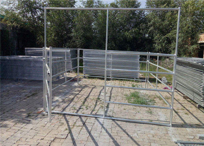 Sheep farm gate fence 40*80mm Oval rail 1.3m tall goat panel 6 bar cattle yard hot dipped galvanized