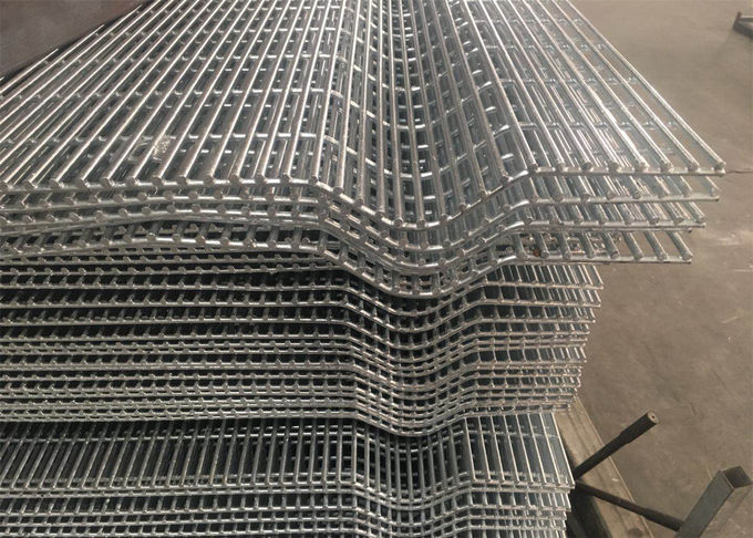 V bend 358 Wire Fence Panels Galvanized Anti Climb Metal 358 Security Wire Mesh Fence