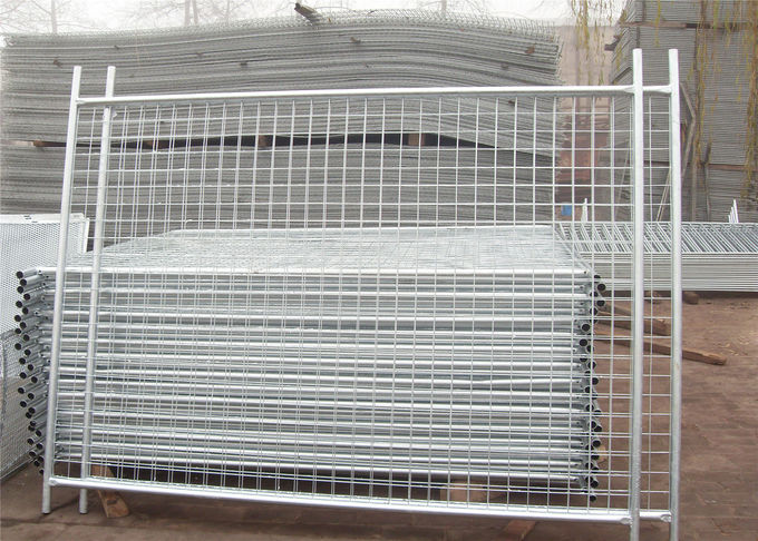 50mm*200mm mesh apertureTemporary Fencing Panels 42 microns hdg plus cold zinc painted at welds AS4687-2007 Standard