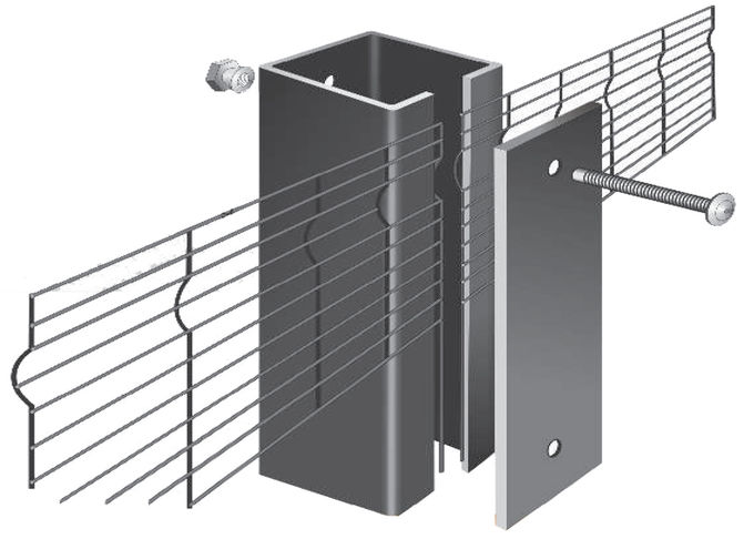 358 anti-climb rigid mesh fencing