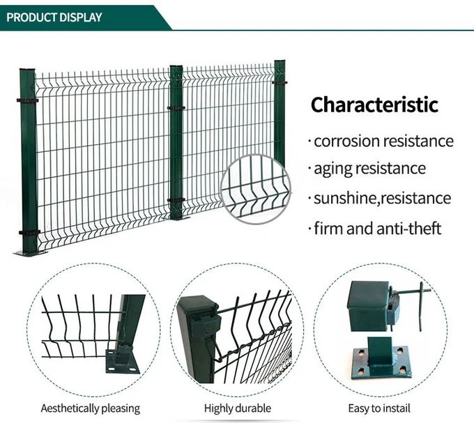 PVC Coated 3D Wire Mesh Fence Panels for Residential