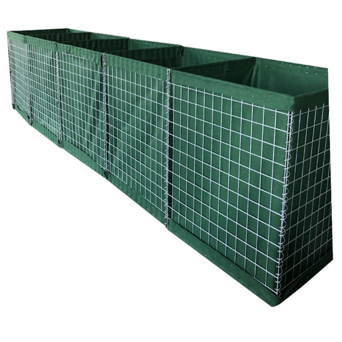 Galfan Welded HESCO Defensive Barriers Lined with Heavy Duty Geotextile Cloth