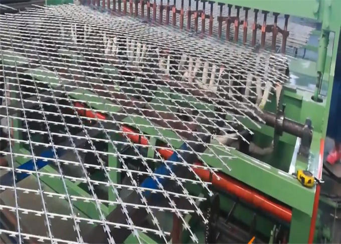 Welded Razor Mesh Fence Panels 1.2m x 2.5m mesh 75mm x 150mm blade length 60mm