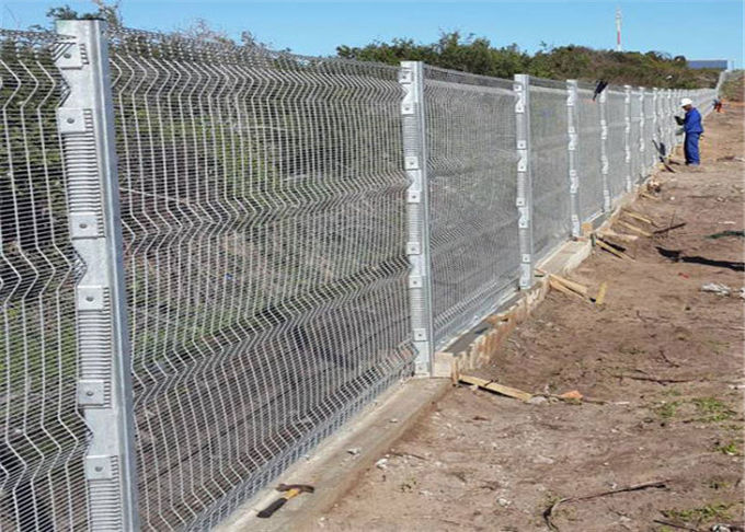 High Security Prison Anti -Cut Wire Fencing Panels Anti-Climb Security Resisdential Fence